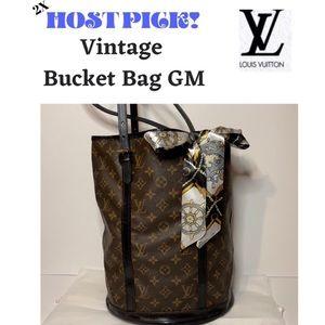 Louis Vuitton Vintage Bucket Bag GM